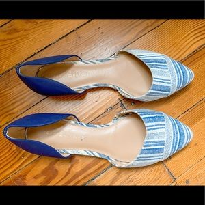 Tommy Hilfiger Naree D'Orsay Blue and White Flats